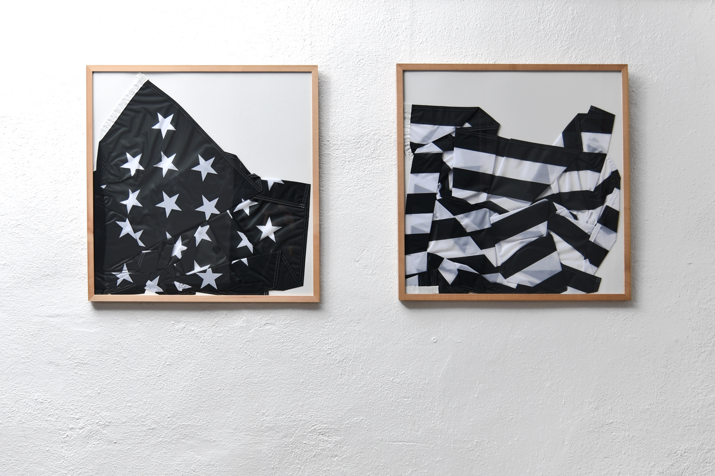 The divided states of america, flags, 2016